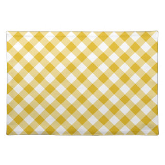 Yellow Gingham Gift Placemats