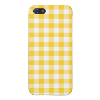 Yellow Gingham iPhone 5 Covers