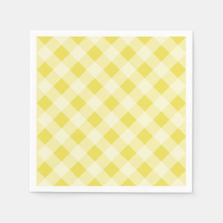 Yellow Gingham Napkins Disposable Napkin