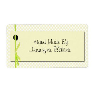 Yellow Gingham Package Labels