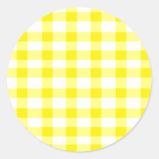 Yellow Gingham Sticker