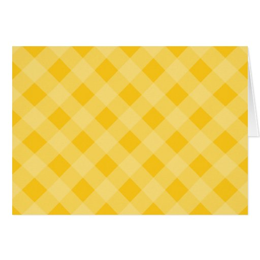 Yellow Gingham Thank You Card