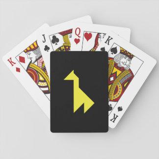 Yellow giraffe Tangram Playing Cards