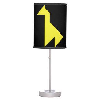 Yellow giraffe Tangram Table Lamp