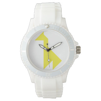 Yellow giraffe Tangram Watch