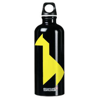 Yellow giraffe Tangram Water Bottle