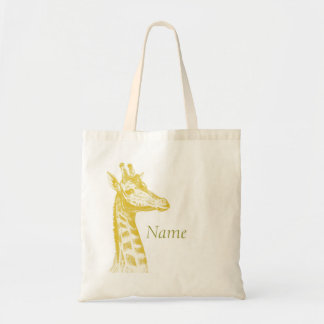 Yellow Giraffe Tote Bag