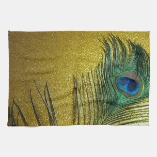 Yellow Gittery Still Life with Peacock Kitchen Towel