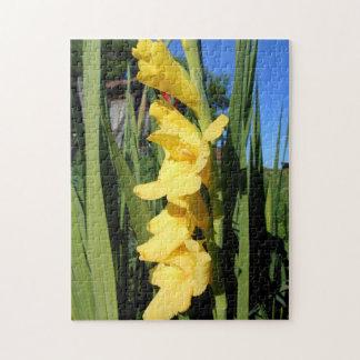 Yellow Gladiolus Flower Jigsaw Puzzle