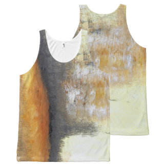 Yellow Gold Abstract Tank Top