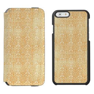 Yellow Gold Aged Damask Pattern Incipio Watson™ iPhone 6 Wallet Case