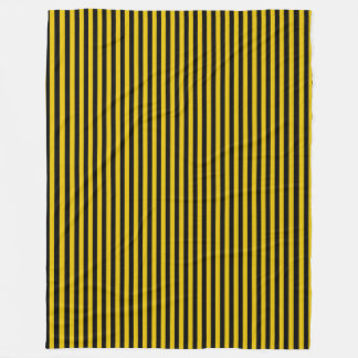 Yellow Gold and Black Plaid Striped Fleece Blanket