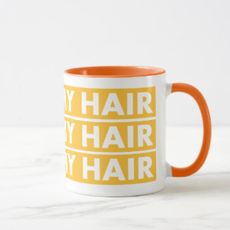 Yellow Gold I Love My Hair Cutout Mug