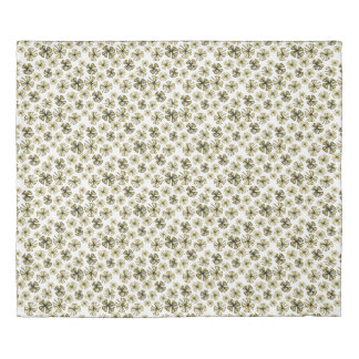 Yellow Gold Lucky Shamrock Clover Duvet Cover