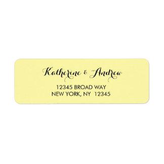 Yellow Gold Navy Blue Return Address