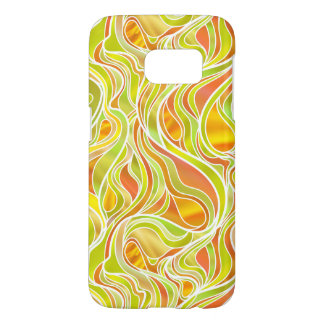 Yellow-Gold Stained Glass Abstract Samsung Galaxy S7 Case