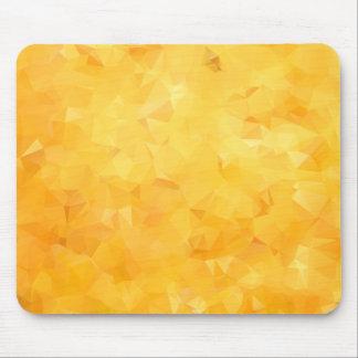 Yellow Golden Beryl Facet Mouse Pad