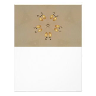 Yellow Golden Egg Pattern Easter Eggs Rustic Beige Letterhead