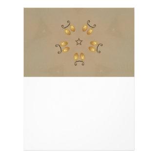 Yellow Golden Egg Pattern Easter Eggs Rustic Beige Personalized Letterhead