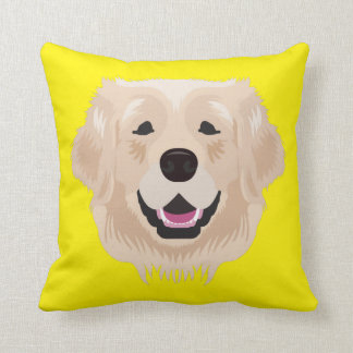 Yellow Golden Retriever Throw Pillow