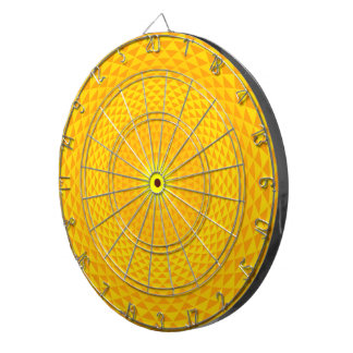 Yellow Golden Sun Lotus flower meditation wheel OM Dartboard
