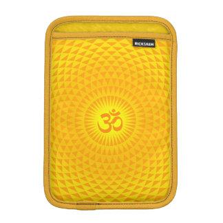 Yellow Golden Sun Lotus flower meditation wheel OM iPad Mini Sleeve