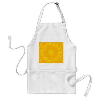 Yellow Golden Sun Lotus flower meditation wheel OM Standard Apron