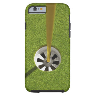 Yellow golf flag pole and hole tough iPhone 6 case
