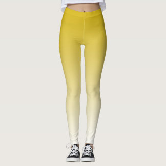 Yellow Gradient Custom Leggings