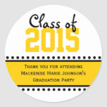 Yellow Graduation Year Favour Label Stickers