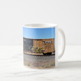 Yellow Graffiti Train Mug