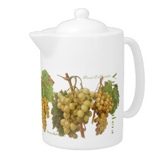 Yellow Grapes Teapot (You can customize)