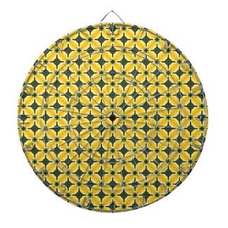 Yellow Graphic Art Seamless Pattern Dartboard With Darts