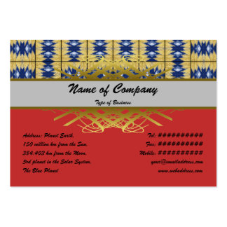 Yellow Grass Grid Large Business Card