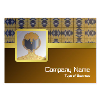 Yellow Grass Grid Pack Of Chubby Business Cards