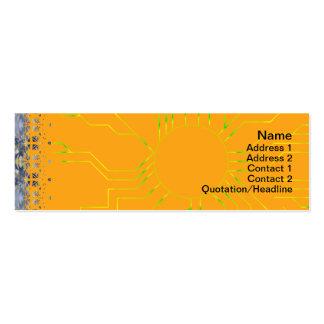 Yellow Grass Seamless Illusion Mini Business Card