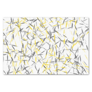 Yellow Gray Abstract Tissue Paper