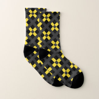 Yellow, Gray And Black Geometric 1