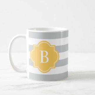 Yellow & Gray Rugby Stripe | Mug