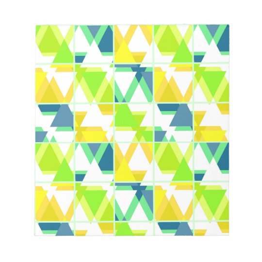 Yellow green abstract notepad