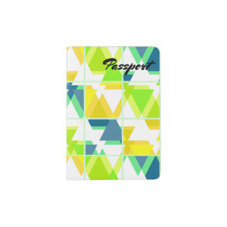 Yellow green abstract passport holder