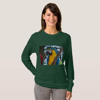 Yellow green and blue tropical bird T-Shirt