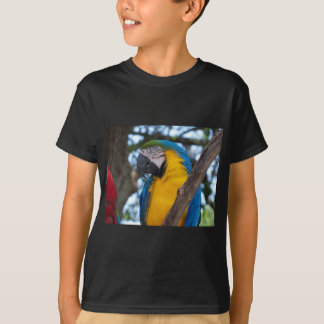 Yellow green and blue tropical Macaw T-Shirt