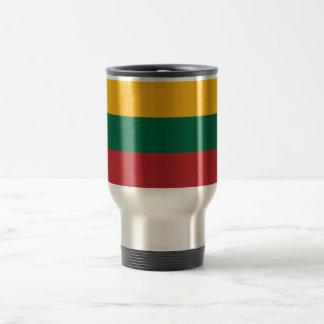 Yellow Green and Red Flag of Lithuania Travel Mug