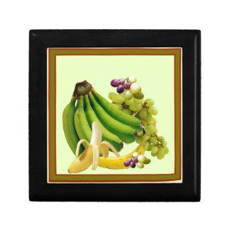 YELLOW-GREEN BANANAS GREEN GRAPES ART DESIGN GIFT BOX
