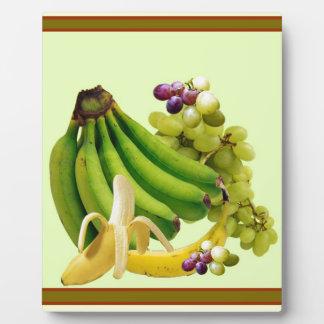 YELLOW-GREEN BANANAS GREEN GRAPES ART DESIGN PLAQUE