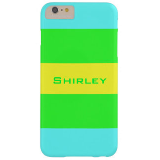 Yellow, Green, Blue Wide Stripes by Shirley Taylor Barely There iPhone 6 Plus Case