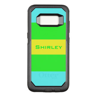 Yellow, Green, Blue Wide Stripes by Shirley Taylor OtterBox Commuter Samsung Galaxy S8 Case