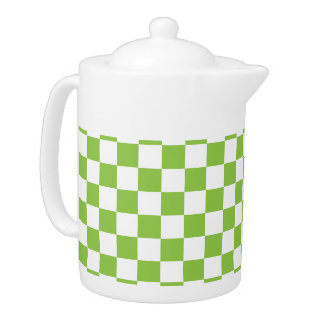 Yellow Green Checkerboard Pattern