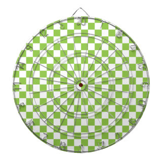 Yellow Green Checkerboard Pattern Dartboard